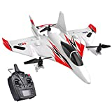 GoolRC 2.4G Airplane, M02 6CH 3D/6G RC Planes, Brushless Multi-Motor RC Helicopters Vertical Takeoff Outdoor Stunt LED RC Glider Fixed Wing Airplane Toy RTF for Kids Boys Adult Beginner (Red)