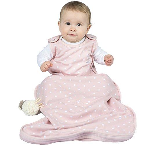 Woolino 4 Season Baby Wearable Blanket Sleep Bag Sack - Merino Wool 2- 24 Months - Rose