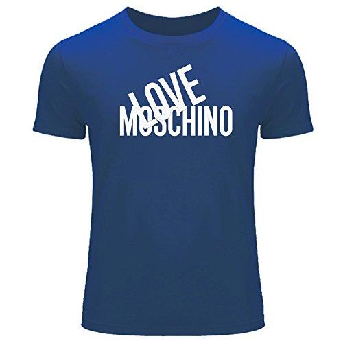 Amor Moschino 2016 para hombres impreso manga corta Tops camisetas