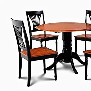 الركيزة المائدة المستديرة مع أرجل كارفن جميلة، طاولة الطاولة: 24 ''، مجموعة طعام 5 قطعة Home Decoration