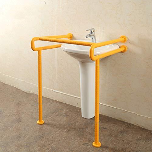 Zhang2019 304 Edelstahl Sicherheits-Handlauf WC öffentliche Toilette Barrierefrei Hand ältere Menschen Behinderte Waschtisch Booster Waschbecken Griff (Farbe optional) (Farbe: weiß)