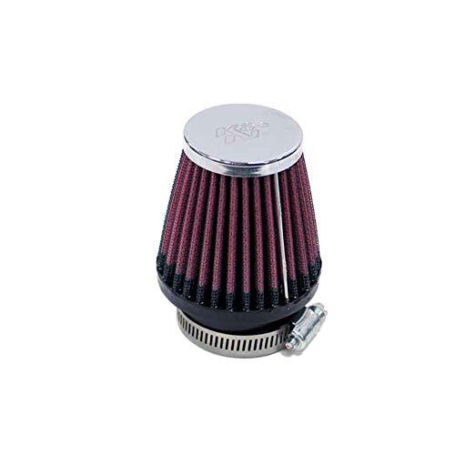 K&N RC-2330 Filtro cromado universal 2-1/8'FLG, 3'B, 2'T, 3'H Coche y Moto