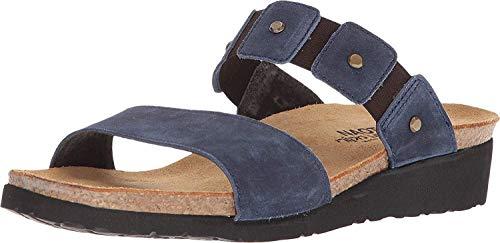 Naot Footwear Women's Scarlett Sandal Midnight Blue Suede w/Rivets 9 M US