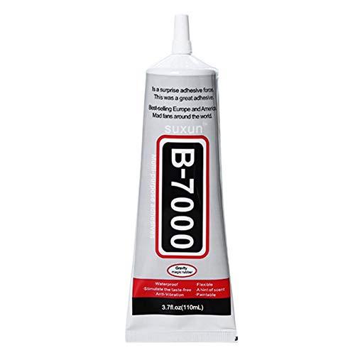 Brownrolly Colla per Riparazione componenti elettronici Schermo Mobile B-7000 ad Asciugatura Rapida ad Alte Prestazioni, Colla per Trapano Stick per Gioielli Fai da Te -110ML