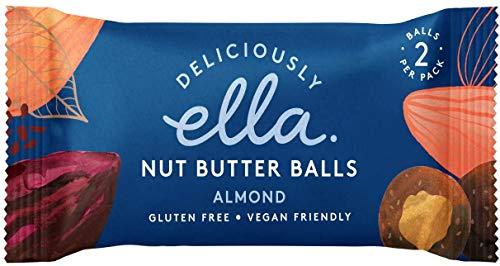 Deliciously Ella Nut Butter Balls Almond Mandel - Multipack 12x36g veganer Snack mit cremiger Mandelfüllung