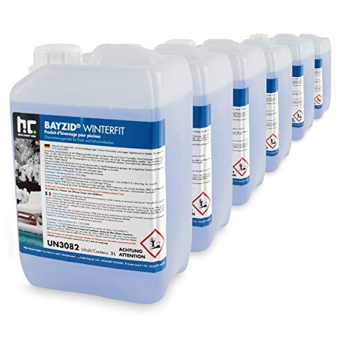 Höfer Chemie 6 x 3 L Pool Wintermittel - BAYZID Winterfit Überwinterungskonzentrat für Schwimmbad und Pool