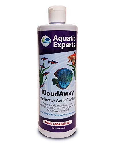 KloudAway Freshwater Aquarium Water Clarifier - Clears Cloudy Water, Water Clarifier for Fish Tank, Made in USA (1 Pack)