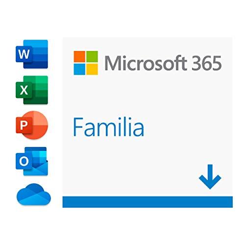 Microsoft 365 Familia| Para 6 PCs/MACs/6 tabletas incluyendo iPad/Android/Windows, además de 6 teléfonos