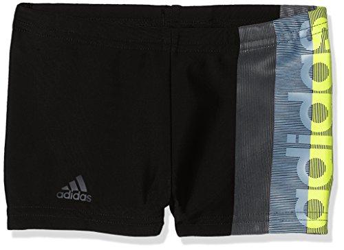 adidas Jungen FIT BX BR Badehose, Black/Carbon, 164