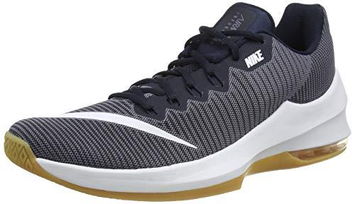 Nike Air MAX Infuriate II Low, Zapatos de Baloncesto Hombre, Gris (Gr/Weiß/Blau Gr/Weiß/Blau), 45.5 EU