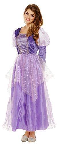 Mujer En Morado Princesa Medieval Cuento De Hadas Disfraz GB 8-10-12