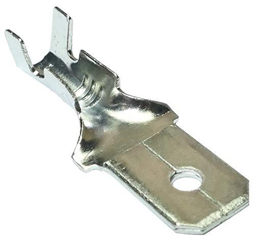 AERZETIX: 100x Terminales electricos planos macho 6.3mm 0.8mm 1.5.2.5mm² C10327