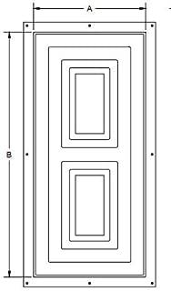 Zurn QKPANEL54 Qickport Access Panel Door, 14