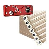 Lavorazione del legno Bordo smussato a 45 gradi Pialla angolare Utensile manuale fai-da-te Angoli Levigatura del legno Pialla per utensile manuale in legno Artigianato fai-da-te(Rosso + 7 teste)