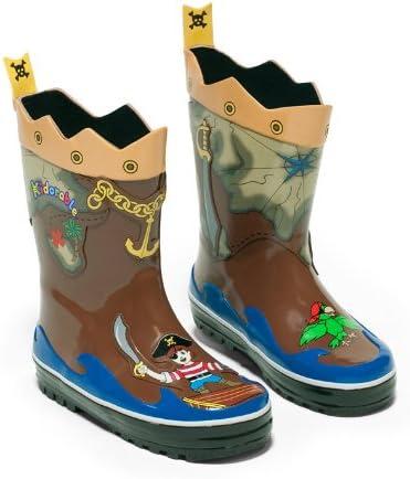 Kidorable Rain Boot - Pirate Size 6 (Age 2 Length 5.75