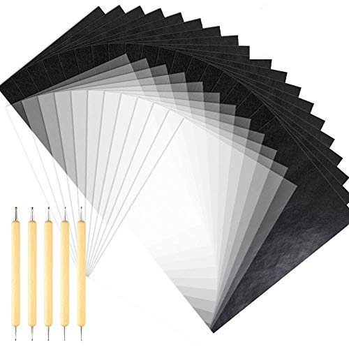LATERN 100 Blatt A4 Kohlepapier Carbon Transferpapier 50 Blatt A4 Transparentpapier 5 STÜCKE Prägestift Werkzeuge zum Zeichnen, Skizzieren, Segeltuch, Holz und für andere Kunstoberflächen