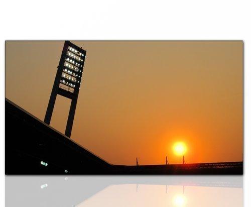 Paul Sinus Art Wandbilder XXL (weser Stadion Werder Bremen 130x70cm) Kunstdruck auf Leinwand und Rahmen - Weitere schöne Foto Bilder im Bild Online Shop.