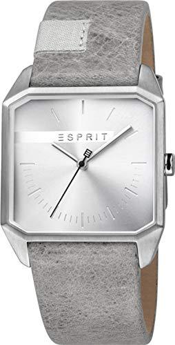 Esprit Herren Analog Quarz Uhr mit Leder Armband ES1G071L0015
