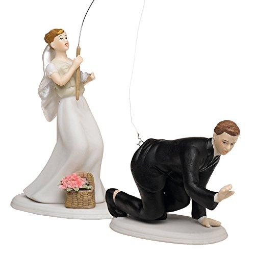 """Tortenfigur Tortenaufsatz """"Fishing"""" für Ihre Hochzeitstorte zur Hochzeit - 7105_6"""
