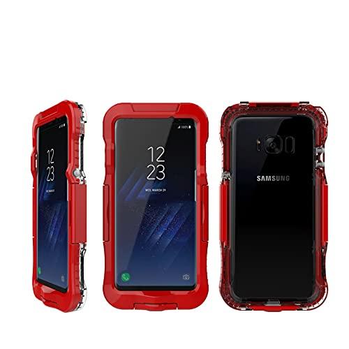 Fundas y Carcasas para teléfonos móviles Adecuado para la Carcasa Impermeable del teléfono Samsung S8 Tres Pruebas Buceo,Red,Samsung s8