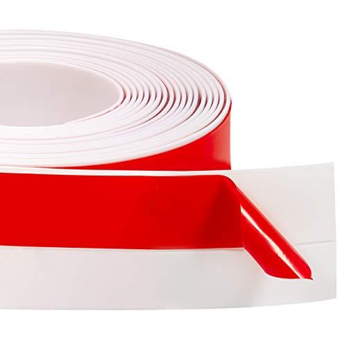 ドア下部隙間テープ ドア下部ストリップ ドア下部シールテープ 防風 防虫 ソフトなシリコーン 防水テープ 省エネ(5cm*620cm)ホワイト