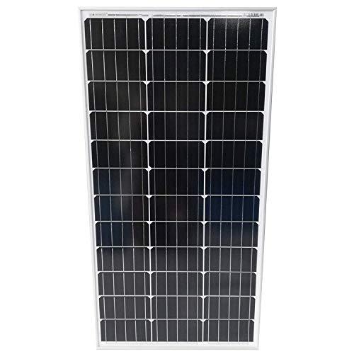 Pannello Solare Monocristallino Pannello Fotovoltaico, Silicio, 50/100/130/150/165 W, per Batterie da 12 V - Modulo Solare per Giardino e Tetto, Caricabatteria per Auto, Camper, Roulotte, Barca (50 W)