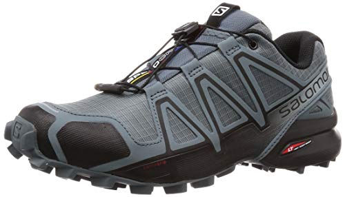 Salomon Men's Speedcross 4 Trail Running Shoes, Stormy Weather/Black/Stormy Weather, 8