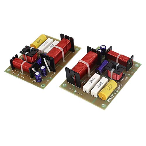 uxcell 2 x 180W 3-Way Crossover Filters Frequency Divider
