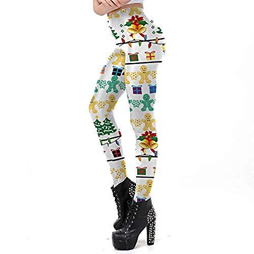 Qingpingzi Kerst Vrouwen Sport Leggings Cospaly Kostuum Supergirl Print 3D Festival Broek Gym Broek Slim Running Broek Fitness Panty