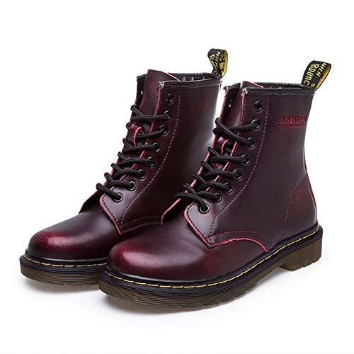 ACWTCHY Lederen Dameslaarzen Dr. Ankle Boots Winter Werklaarzen Schoenen Vaste Ankle Boots Dames laarzen