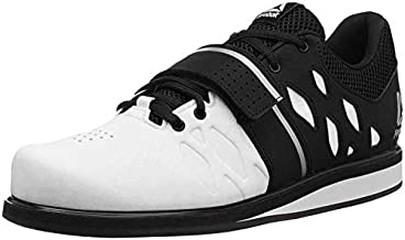 Reebok Men's Lifter PR Weightlifting and Gym Shoes, White/Black, 15 M US