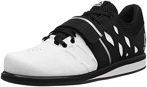 Reebok Men's Lifter PR Cross Trainer, White/Black, 8.5 M US