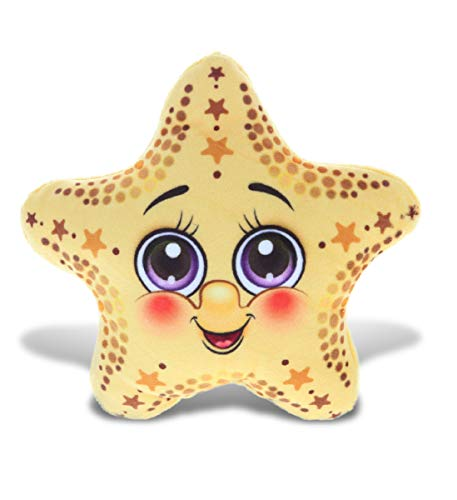 DolliBu Yellow Starfish Stuffed Animal Plush Toy, Kids & Adults Huggable Star Cuddle Gifts, Cute Stuffed Animals for Toddler & Baby First Sea Creature Plush, Super Soft Toys for Girls & Boys 5.5 Inch