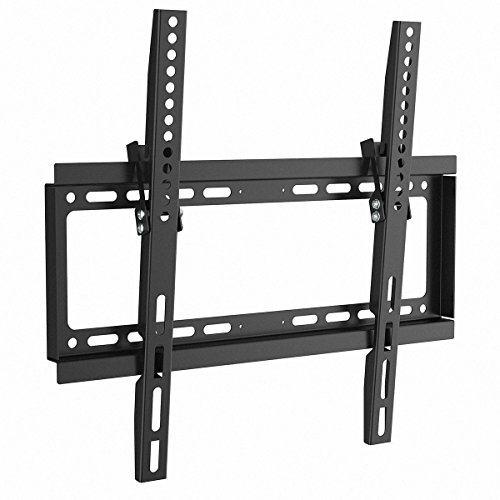 1home TV Wall Bracket Mount Tilt Black fits 17-50 inches Plate Screen TVs LCD LED Plasma TV of All Makes All Models