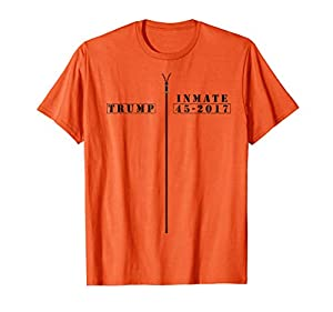 If you want to lock him up, maybe this funny Trump prison inmate jumpsuit costume shirt is perfect for you. Russia collusion scandal, cover up, and obstruction of justice are just some of the reasons Trump may be found guilty of breaking the law. Per...