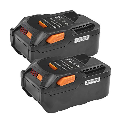 2Pack 18-Volt 4.0Ah Lithium Ion Replacement Battery Compatible with for RIDGID R840087 R840083 R840086 R840084 AC840086 AC840085 RIDGID 18V Drill Battery
