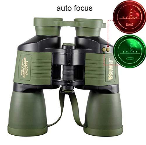 LFFCC Fernglas, mit Koordinate 10x50 Autofokus HD Nachtsicht Zielfernrohr, Tägliches wasserdichtes Teleskop, Erwachsene Outdoor Vogelbeobachtung Reisen Jagd Fußball