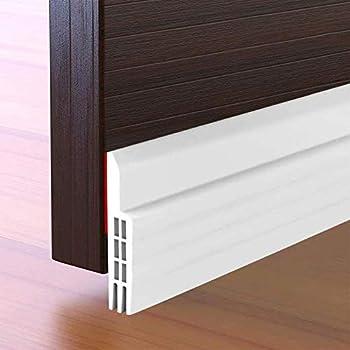 Suptikes Door Draft Stopper Under Door Seal for Exterior/Interior Doors Strong Adhesive Door Sweep Soundproof Weather Stripping 2  W x 39  L White