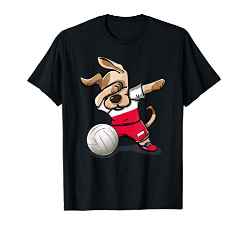 面白い犬のダンス ポーランド バレーボール ポーランドの旗- バレーボール愛好家 Poland Volleyball Tシャツ