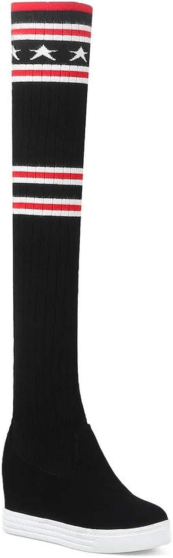 BalaMasa Womens Heighten Inside Assorted colors Wool Boots ABL11887