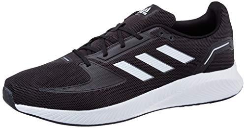 adidas RUNFALCON 2.0, Scarpe da Corsa Uomo, Core Black/Ftwr White/Grey Six, 42 2/3 EU