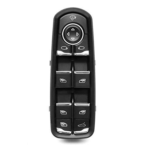 Qilo Interruptor de la Ventana de la Puerta de Strawman para Porsche Panamera Cayenne (Color : Negro)