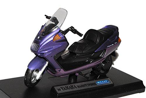 Welly Yamaha Majesty YP250DX 1999 Roller Violett 1/18 Modell Motorrad