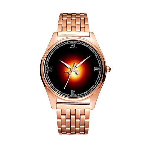 Minimalistische Goldene Fashion Quarz-Armbanduhr Elite Ultra Dünn Wasserdichte Sportuhr Künstlerisches Muster -0322.Betelgeuse, Stern, Rot Riesen Sternbild Orion
