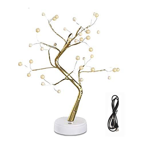 36 Pearl Tabletop Bonsai Tree Light,DIY Artificial Tree Lamp Decoration,Bedroom Living Room LED Table Desk Lamp Decoration, DIY Lighted Branches