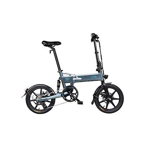 XBSXP Bicicleta eléctrica Plegable de 16 Pulgadas E-Bike 250 W Bicicleta eléctrica de Aluminio con Pedal para Adultos y Adolescentes, o Deportes al Aire Libre Ciclismo Viajes Desplazamie