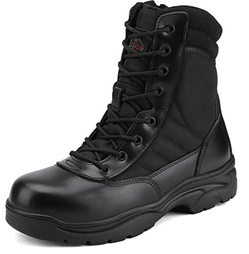 NORTIV 8 Men's Safety Steel Toe Work Boots Anti-Slip Military
