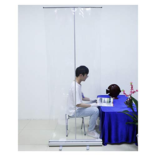 YJFENG Portátil Enrollar Bandera, De Pie Soporte De Póster con PVC Transparente Pantalla De Partición, Rotación De 360 Grados Cuadro De Soporte, para Oficina Cafés Tiendas Minoristas