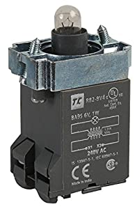 Lamp Holder, Ba9, 240V to 6V, Approvals/Standards CSA, UL, Control Station Switches