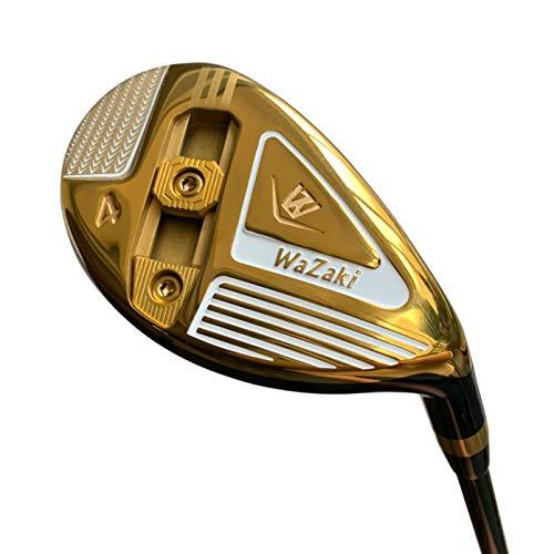 Japan Wazaki WL-III Mx Steel Adjustable Hybrid Iron Single Golf Club with Headcover,23 Degree Loft,Regular Flex,65g Graphite Shaft,Right Handed